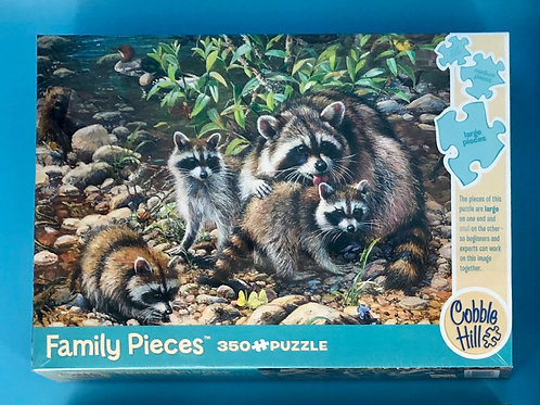 Raccoon Family Puzzle-350 pieces