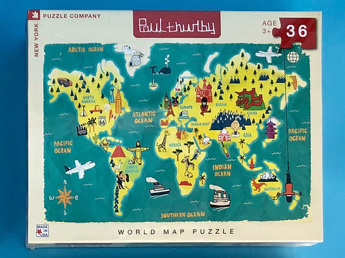 World Map Puzzle-36 pieces
