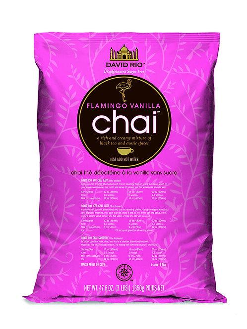 David Rio Flamingo Vanilla Decaf. S. Free Chai Tea 3.0 Lb. Bag