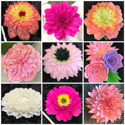 Giant Paper Flowers- Decorations