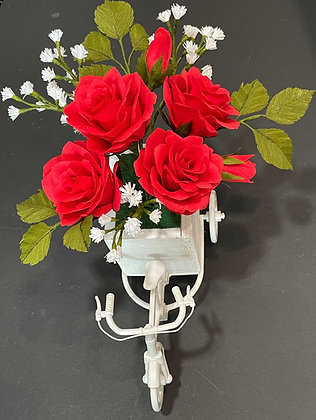 Roses on a tricycle