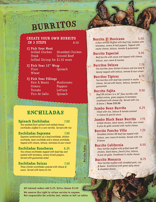 Mi Pubs Burritos / Enchiladas