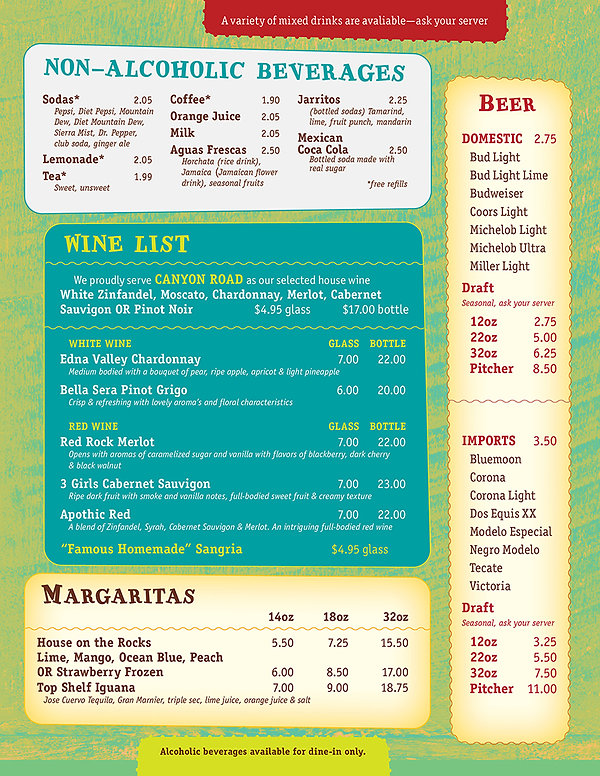 Forest City Non-Alcoholic Beverages / Wine / Beer / Margaritas