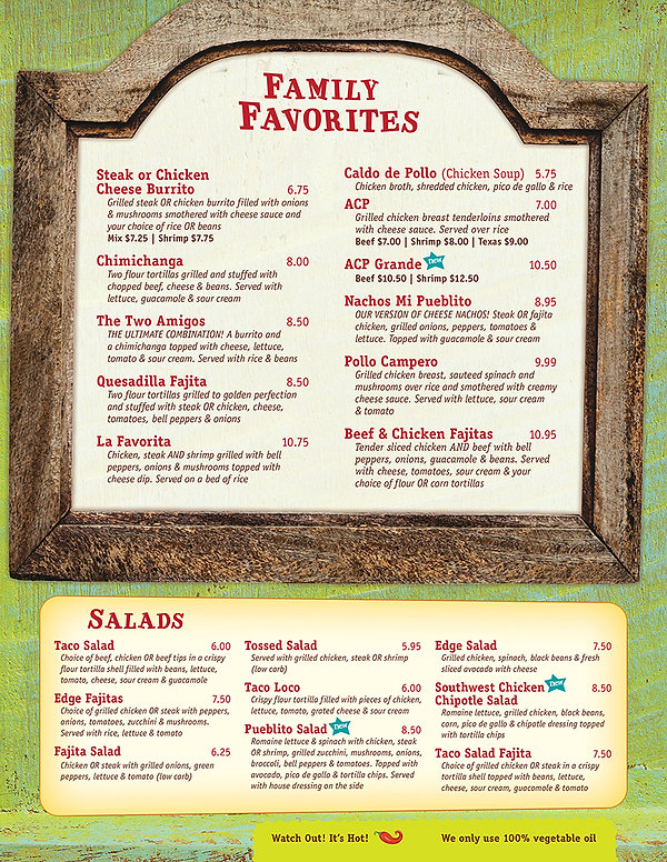 Mi Pubs Family Favorites / Salads