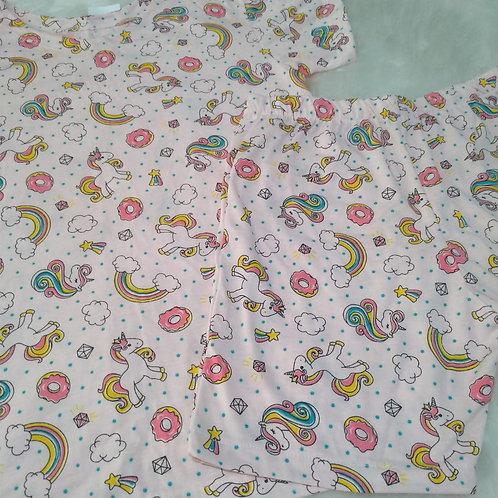 Pijama unicórnio (tamanho 12)