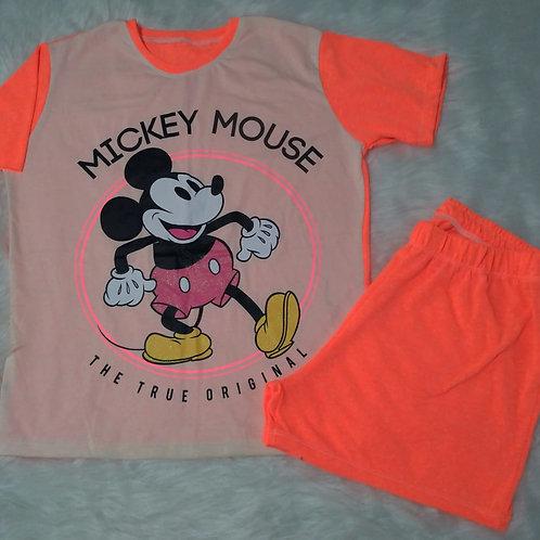 Pijama Mickey fluorescente - M