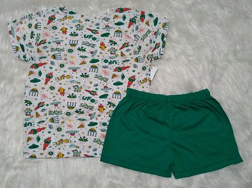 Pijama espaço (tamanho 04)