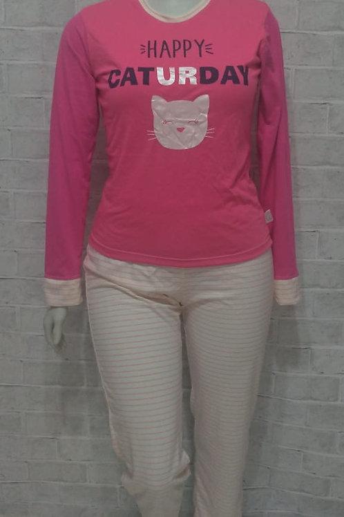 Pijama Caturday rosa - Tam. M