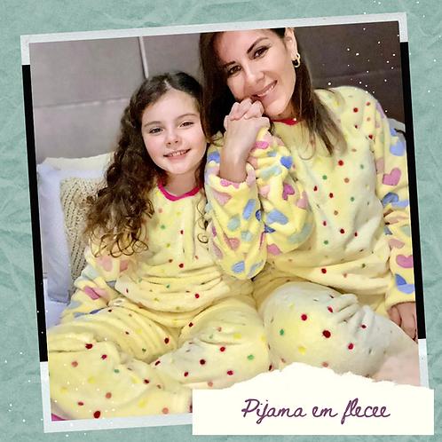 Pijama Adulto Fleece - ENCOMENDA