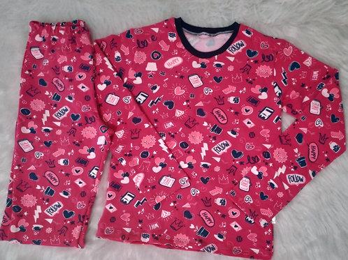 Pijama Follow molecotton - tam. 10
