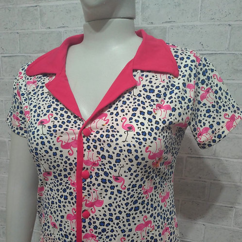 Camisola Flamingos Glam