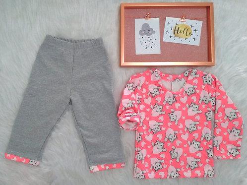 Pijama moletom gatinho (tamanho 01)