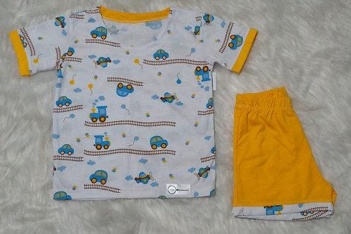 Pijama carrinhos (tamanho 02)