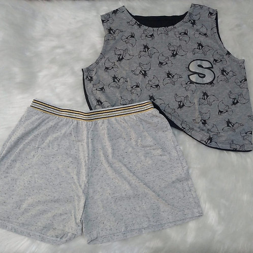 Pijama modelo cropped (tam. G)