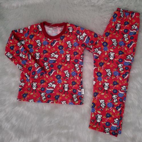 Pijama coelhinho - molecotton tam. 04