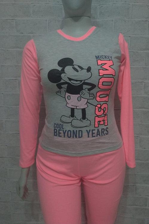 Pijama Mickey neon rosa - tam. PP