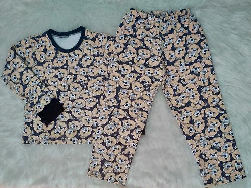 Pijama ursinhos - moletom tam. 04