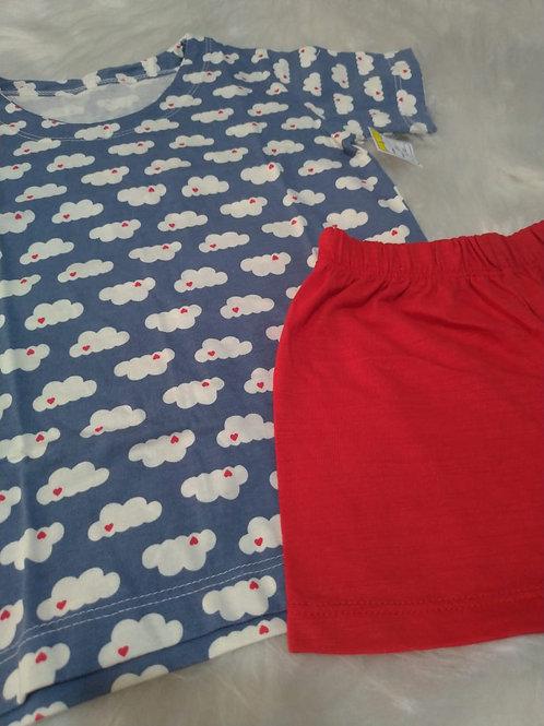 Pijama nuvem (tamanho 04)