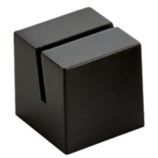 Black Cube Card Stand