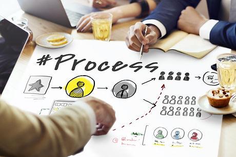 Process Network Workflow Teamwork Infogr