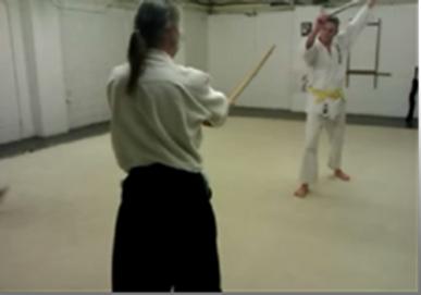 Sword v 4ft stick (Jo)