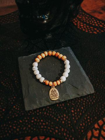 Howlite Stone with Bouddha