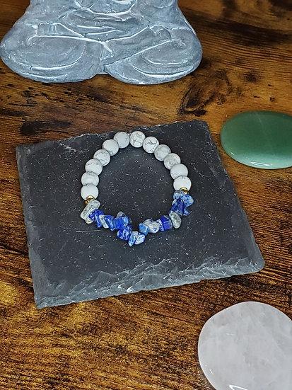 Howite & Lapiz Lazuli Stones Bracelet