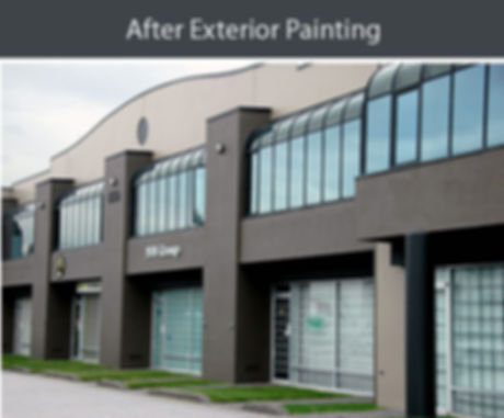 after exterior painting