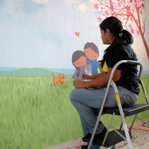 Mural en habitación