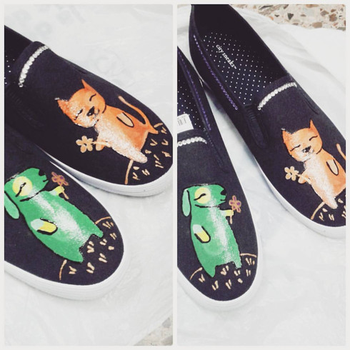 Arte en zapatos