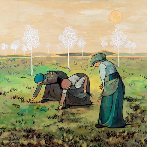 Las espigadoras de Joan Millet por Evan Lopez
