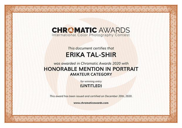 chromaticawards_certifcate_Erika_Tal-Shi