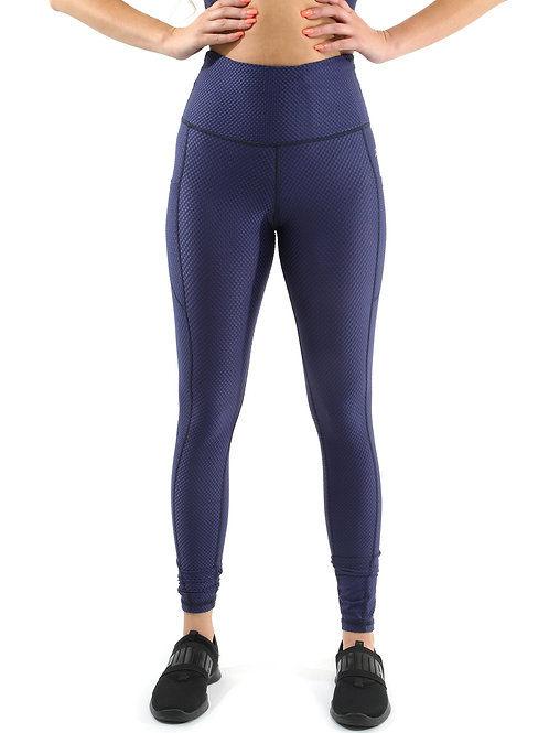 SALE! 50% OFF! Venice Activewear Leggings - Navy [MADE IN ITALY] - Size Small
