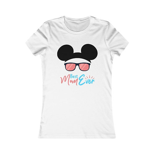 Best Mom Ever With Sunglasses Mickey Ear Women Graphic Tee