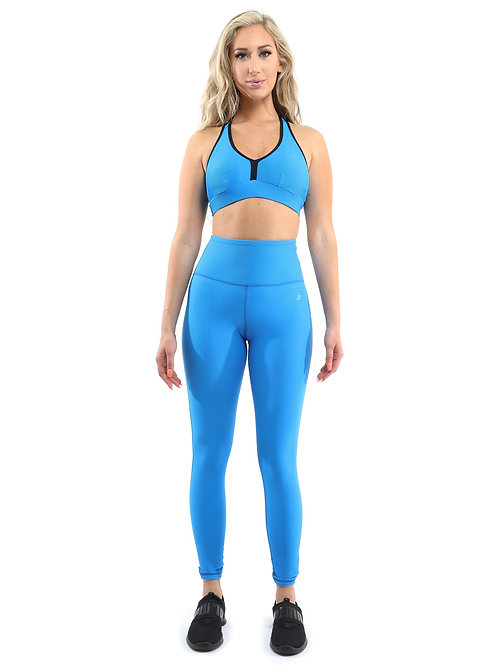 Activewear Set - Leggings & Sports Bra - Aqua [MADE IN ITALY] - Size Small
