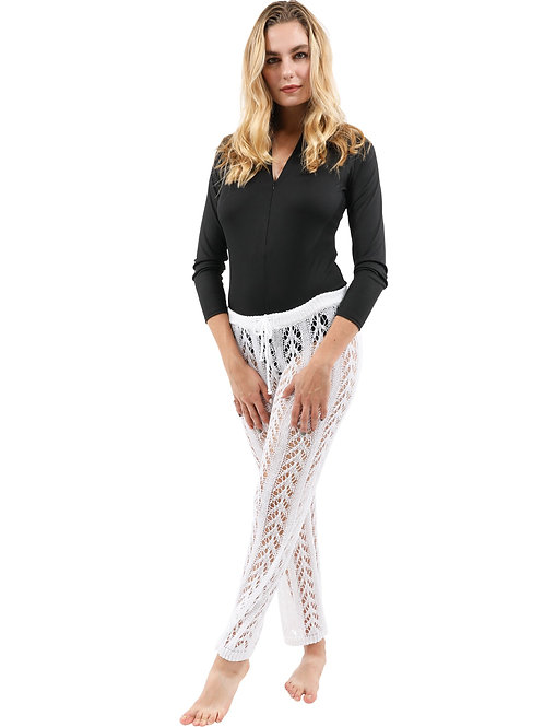 Kimridge Crochet Pant - White