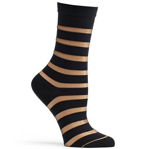Sheer Stripe Sock