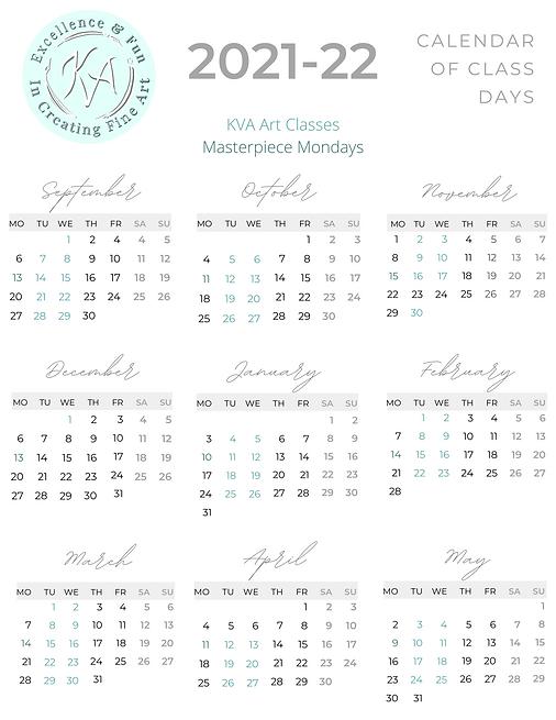 Calendar of Class Days 2021/22