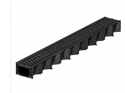 Aco Hexaline 2.0Goot Zwart L=100 cm