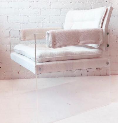 Lucite arm chair