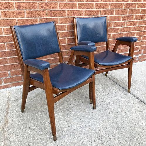 Reupholstered Vintage school  office chair
