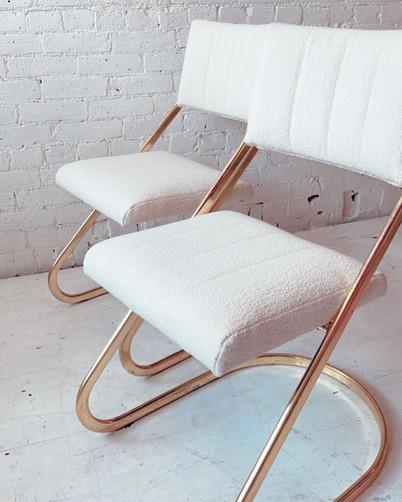 Vintage brass chairs