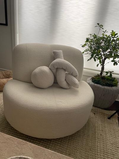 Swivel chair & ustom pillows