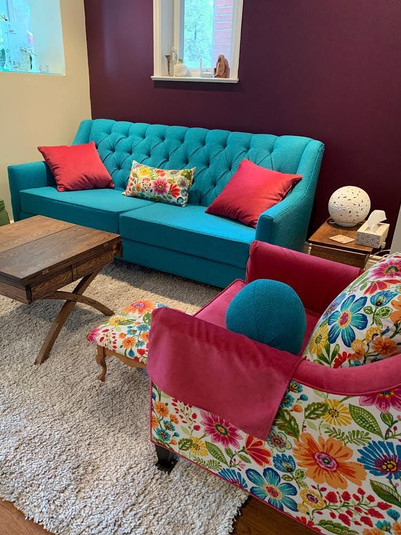 Colurful couch
