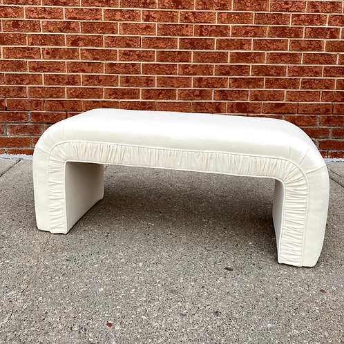 Vintage inspired waterfall bench - white
