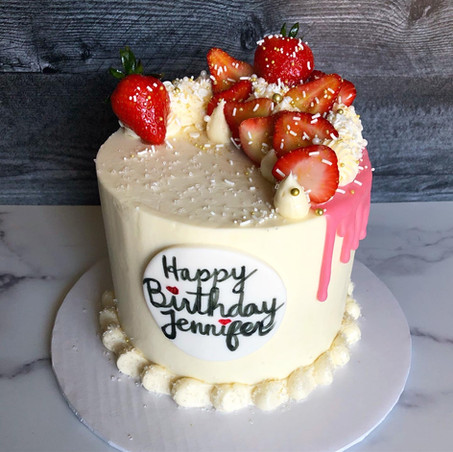 Strawberries and cream signature cake