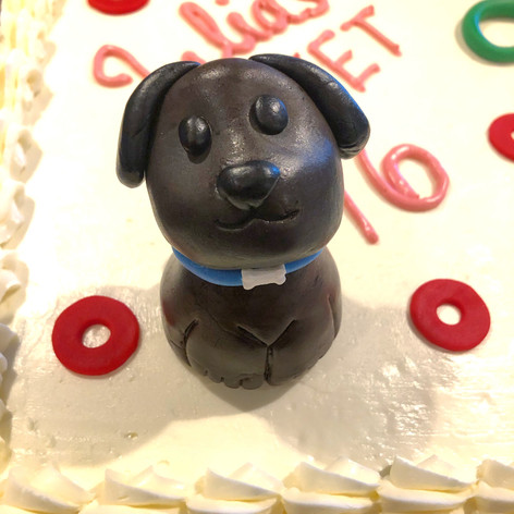 Split theme birthday cake