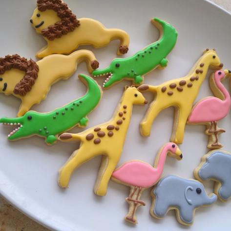 Zoo animal cookies