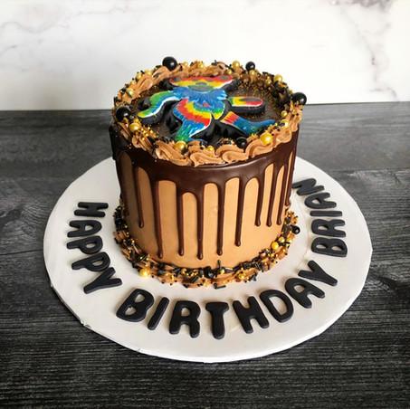 Grateful Dead custom tie-dye dancing bear cake