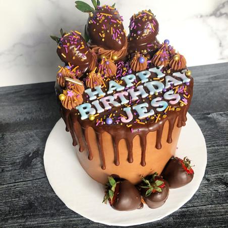 Chocolate love birthday cake